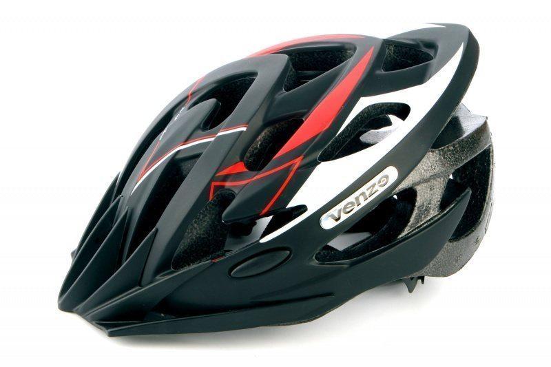 Шлем VENZO VZ-F26M-010, MTB, красный, L(57-60), 240гр