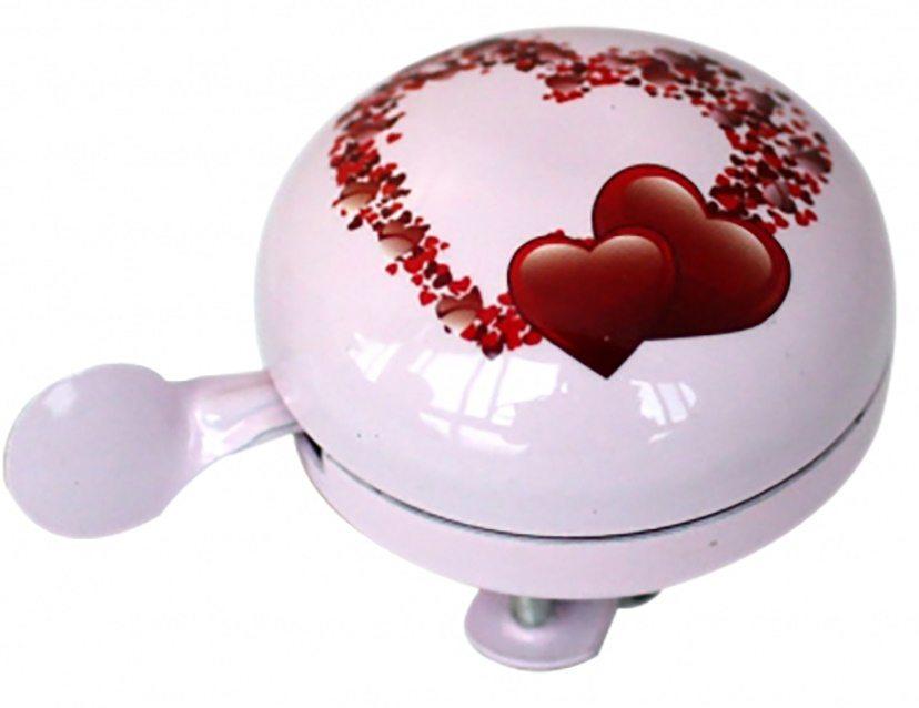 """Звонок """"сердечки"""", диаметр 58мм, алюминий"""
