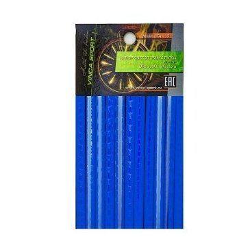 Набор светоотражающих накладок на спицы велосипеда, цвет синий, 12 шт.
