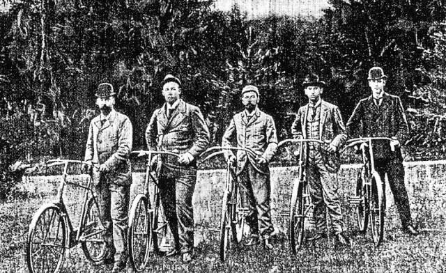 Будущий Николай II в Дании с принцами Датским Орлеанским и Греческим (1894 г.)